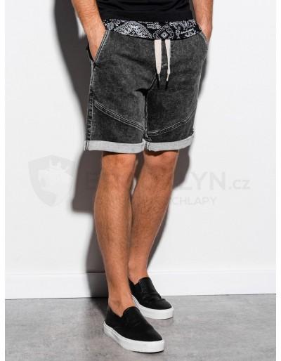 Men's denim shorts W219 - black