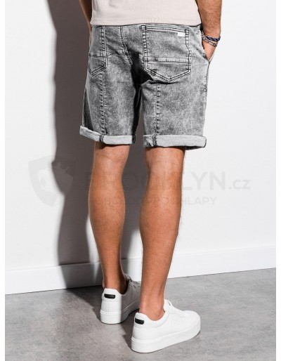Men's denim shorts W219 - grey