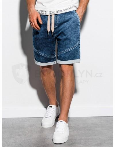 Pánské riflové kraťasy W219 - tmavé džíny