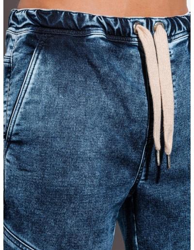 Men's denim shorts W219 - dark jeans