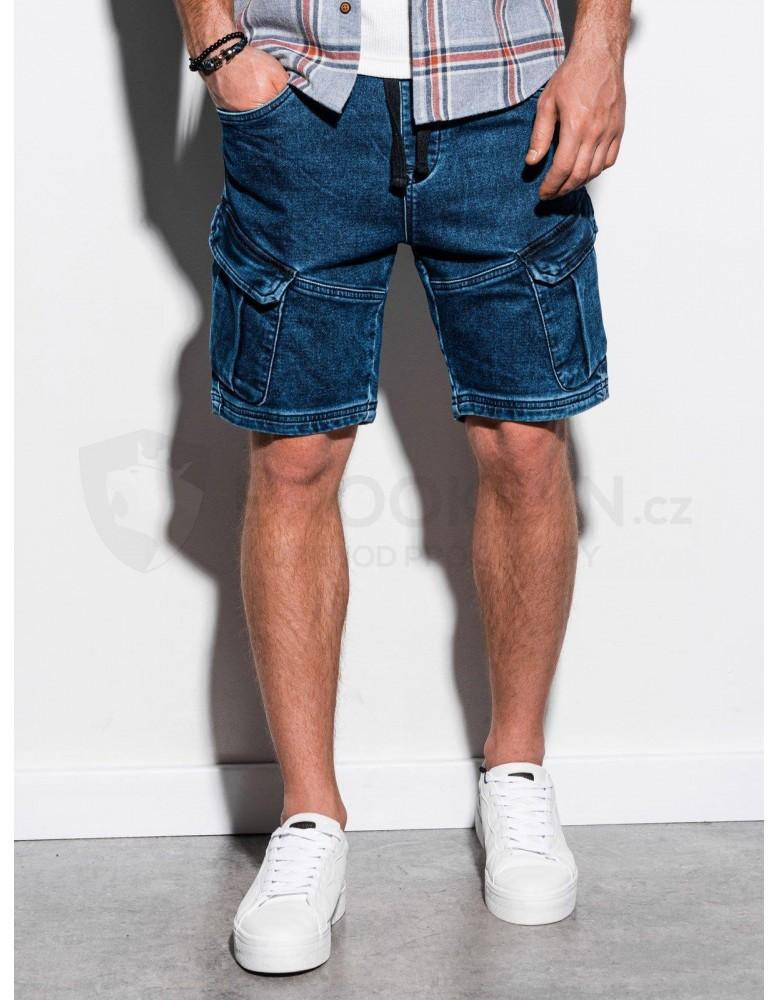 Pánské riflové kraťasy W220 - tmavé džíny