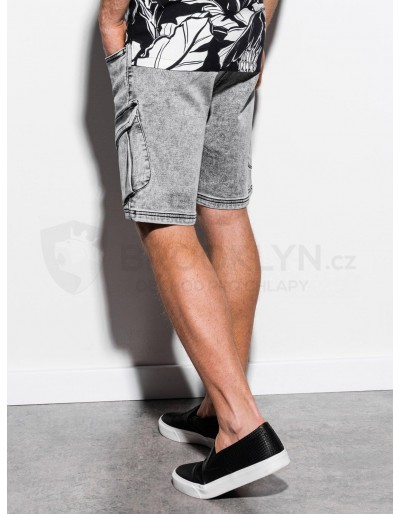 Men's denim shorts W220 - grey