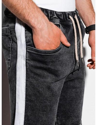 Men's denim shorts W221 - black