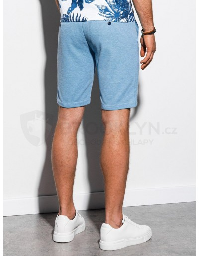 Men's casual shorts W224 - light blue