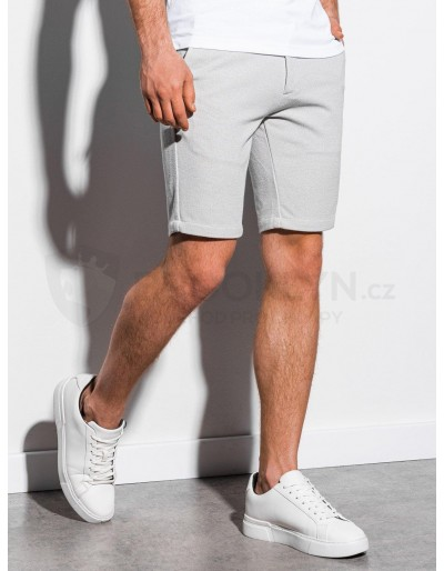 Men's casual shorts W224 - light grey