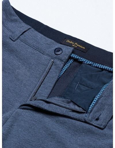 Men's pants chinos P891 - navy