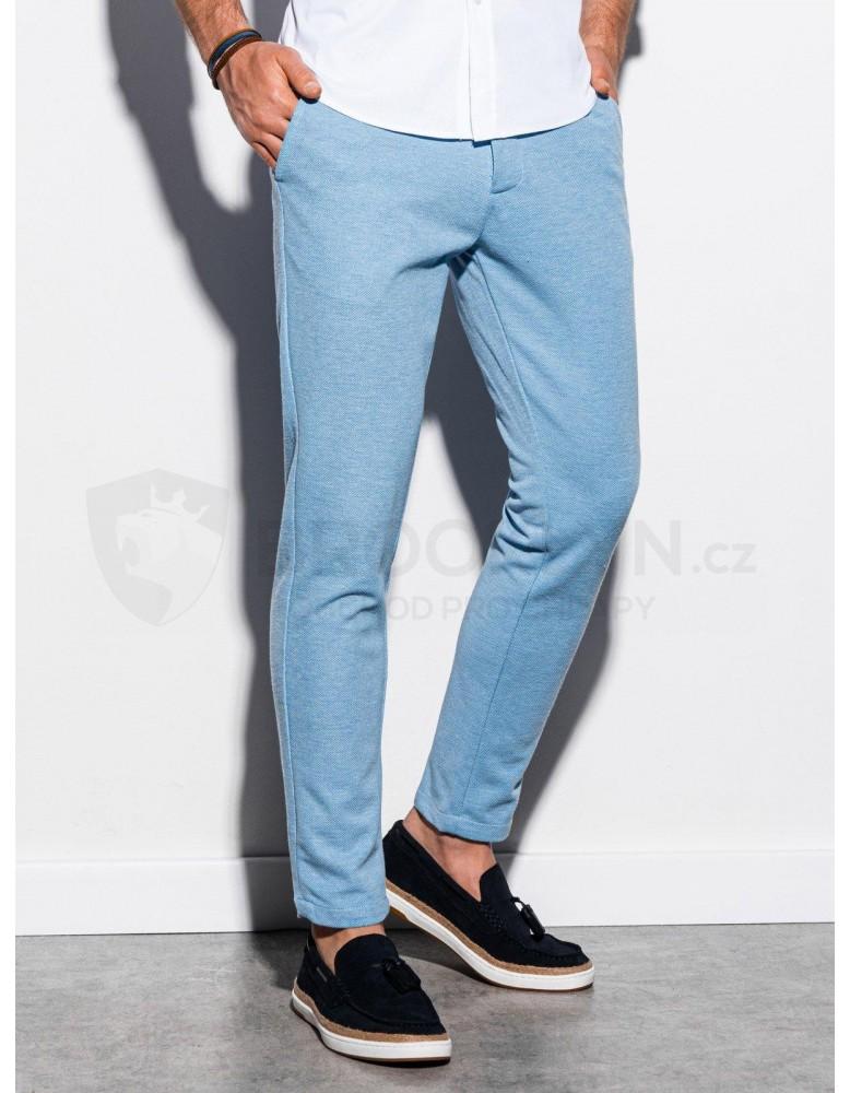 Pánské kalhoty chinos P891 - světle modré
