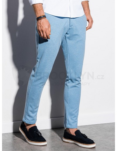 Men's pants chinos P891 - light blue