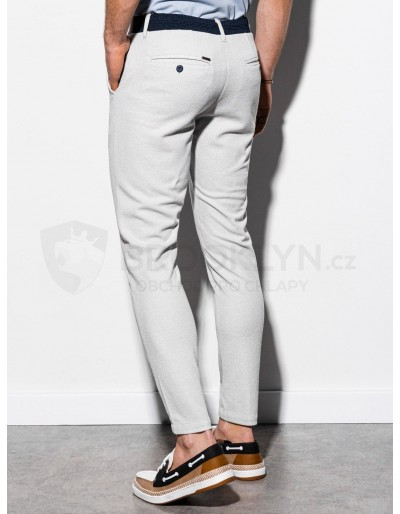 Men's pants chinos P891 - light grey