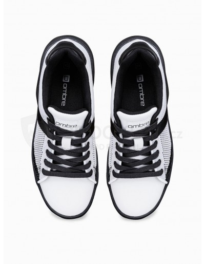 Men's high-top trainers T344 - white/black