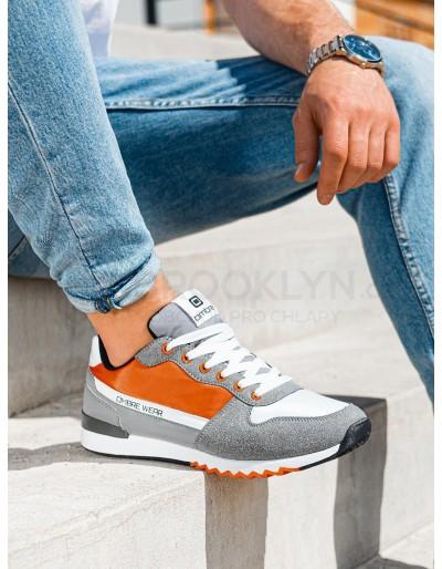 Pánské ležérní tenisky T337 - oranžové