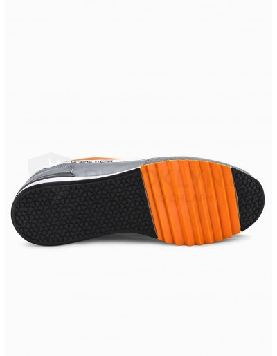 Men's casual sneakers T337 - orange