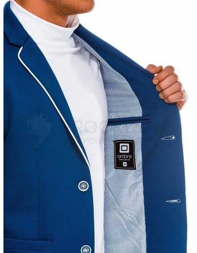 Elegant men's blazer M81 - blue