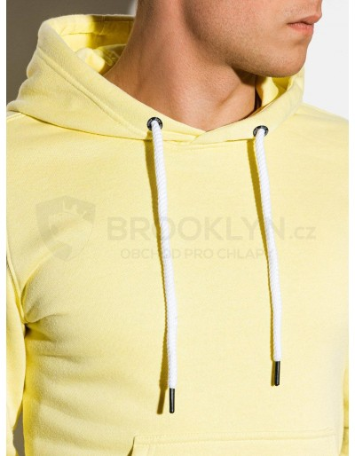 Men's hooded sweatshirt B979 - light yellow