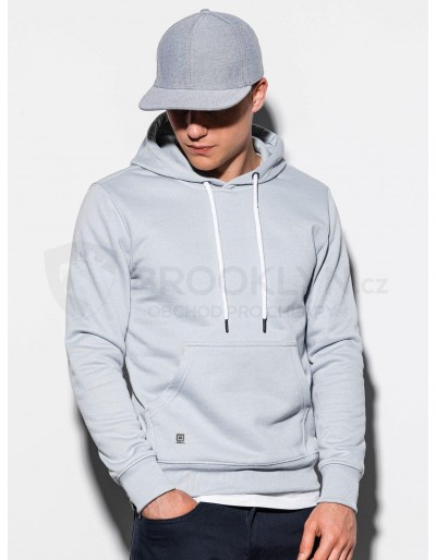 Men's hooded sweatshirt B979 - silver