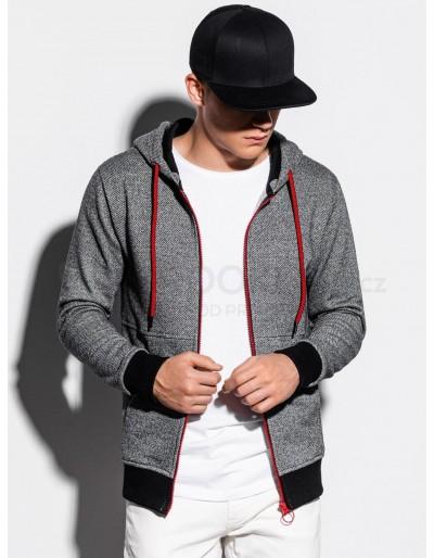 Men's zip-up sweatshirt B1055 - dark grey