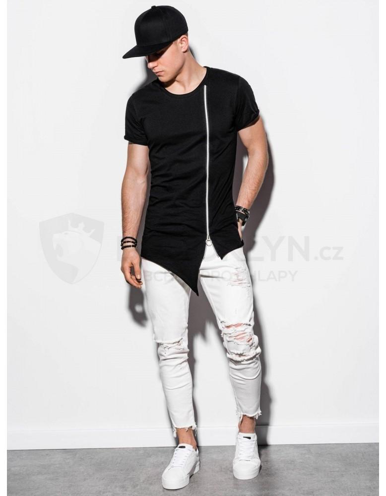 Pánské obyčejné tričko S1217 - černé