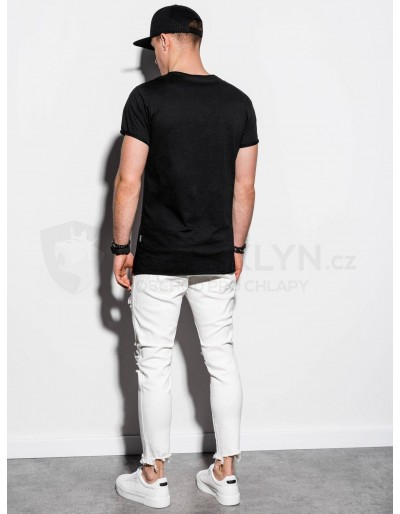 Men's plain t-shirt S1217 - black