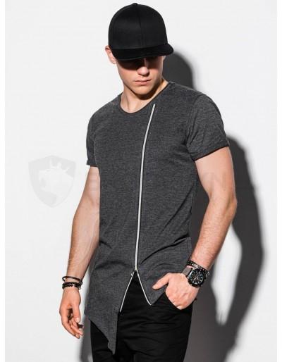 Men's plain t-shirt S1217 - dark grey