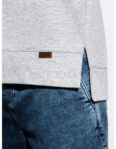 Men's hoodie with short sleeves B1067 - grey