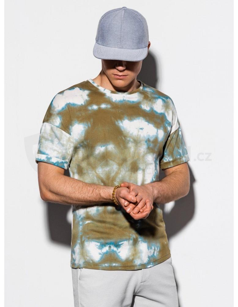 Pánské tričko Tie-Dye S1219 - olivové