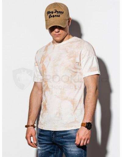Men's Tie-Dye t-shirt S1219 - beige