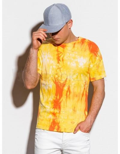 Pánské tričko Tie-Dye S1219 - žluté