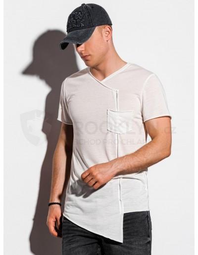 Pánské obyčejné tričko S1215 - ecru