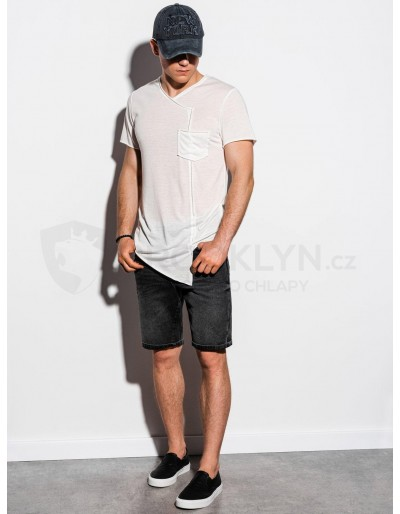 Men's plain t-shirt S1215 - ecru