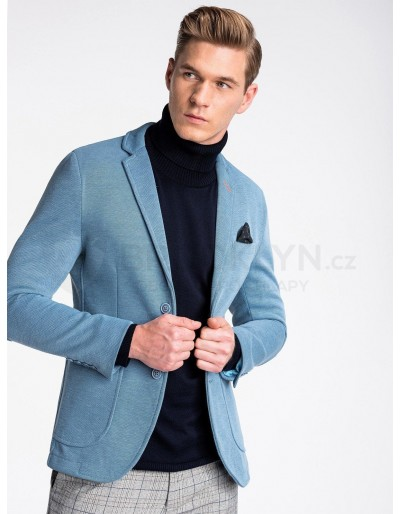 Casual men's blazer M80 - blue
