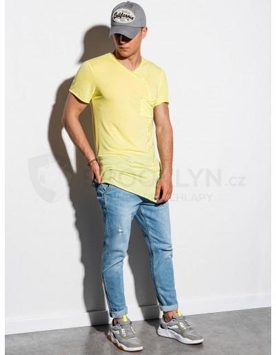 Men's plain t-shirt S1215 - yellow