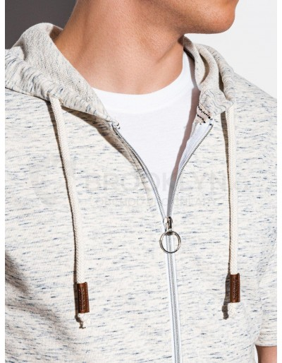 Men's hoodie with short sleeves B1068 - light grey