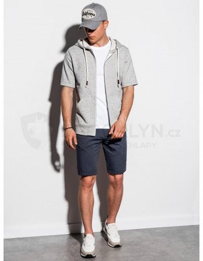 Men's hoodie with short sleeves B1068 - grey