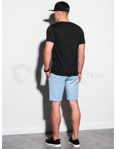 Men's plain t-shirt S1183 - black