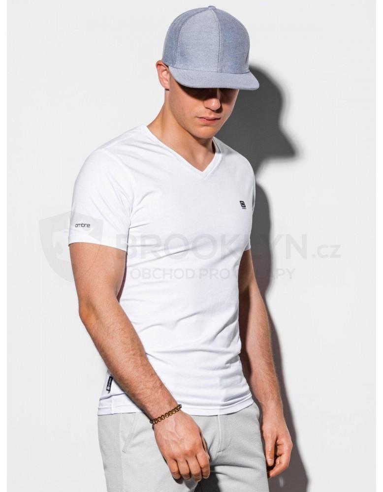 Pánské obyčejné tričko S1183 - bílé