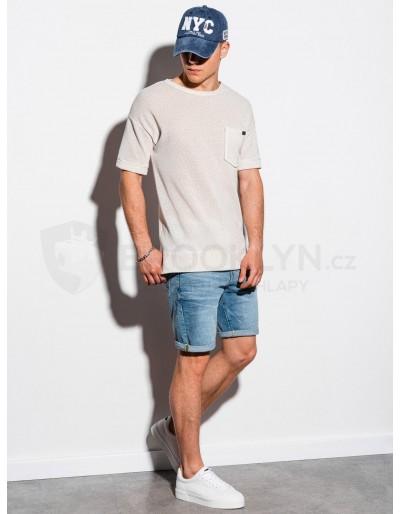 Men's hoodie with short sleeves B1069 - ecru