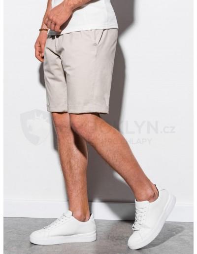 Men's casual shorts W243 - light beige