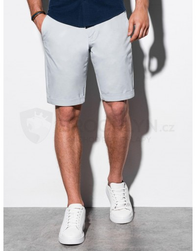 Men's casual shorts W243 - light grey