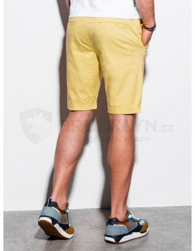Men's casual shorts W243 - yellow