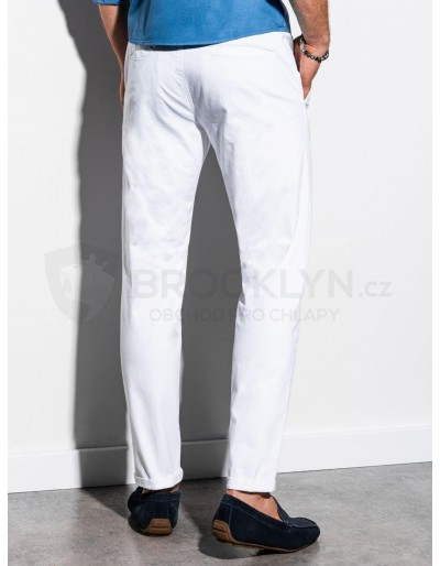 Men's pants chinos P894 - white