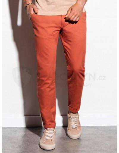Pánské kalhoty chinos P894 - cihlové
