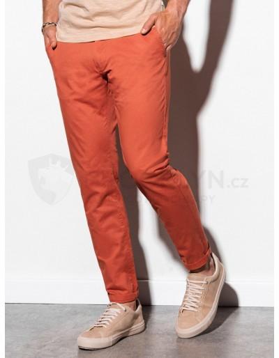 Men's pants chinos P894 - brick