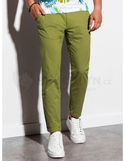 Pánské kalhoty chinos P894 - zelené
