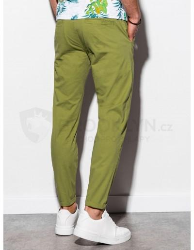 Men's pants chinos P894 - green