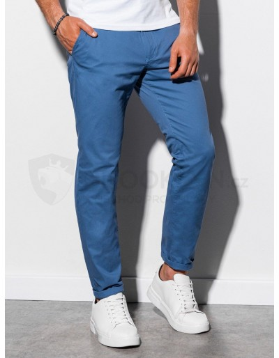 Pánské kalhoty chinos P894 - modré