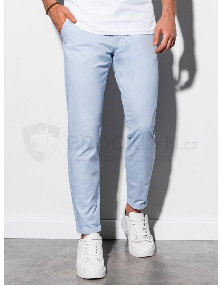 Pánské kalhoty chinos P894 - světle modré