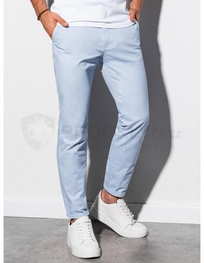 Men's pants chinos P894 - light blue