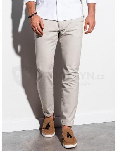 Pánské kalhoty chinos P894 - světle béžové