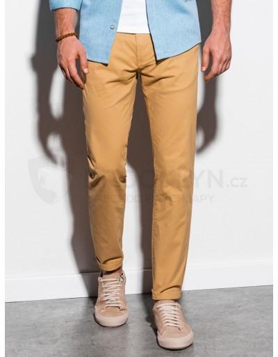Pánské kalhoty chinos P894 - tmavě béžové