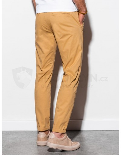 Men's pants chinos P894 - dark beige